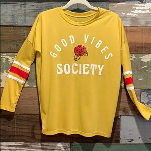 "Long sleeve ""Good Vibes Society "" by Mighty Fine"